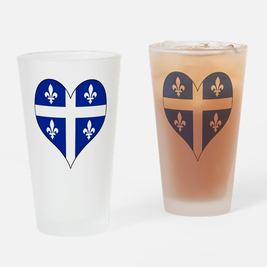 Quebec Heart Drinking Glass