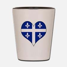 Quebec Heart Shot Glass