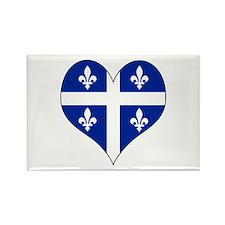 Quebec Heart Rectangle Magnet