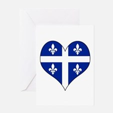 Quebec Heart Greeting Card