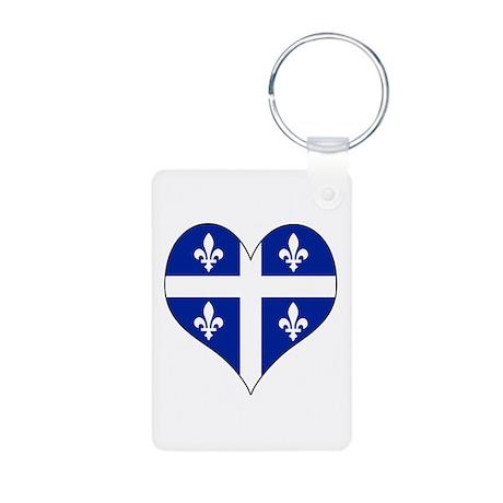 Quebec Heart Aluminum Photo Keychain