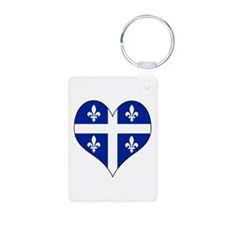 Quebec Heart Keychains