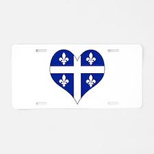 Quebec Heart Aluminum License Plate