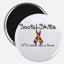 "Social Skills Autism Asperger's awareness 2.25"" Ma"