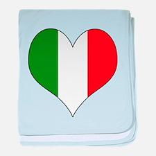 Italy Heart baby blanket