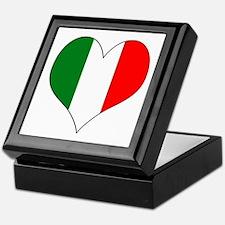 Italy Heart Keepsake Box