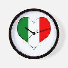 Italy Heart Wall Clock