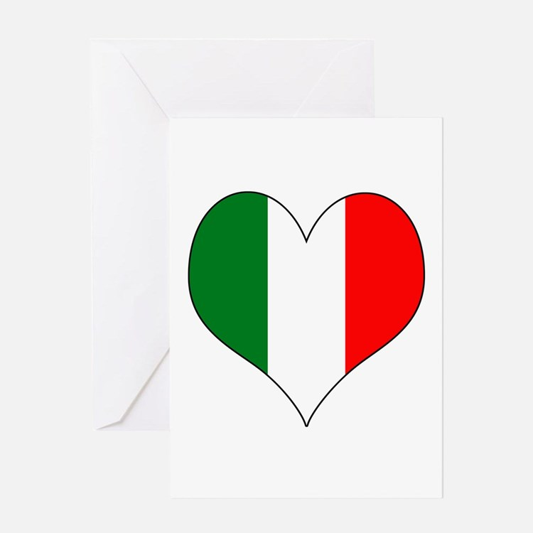 Italy Heart Greeting Card