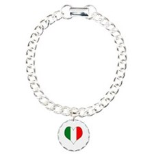 Italy Heart Charm Bracelet, One Charm