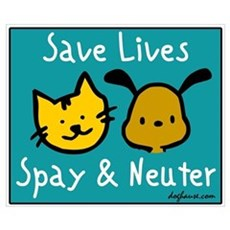 Save Lives Spay & Neuter Poster
