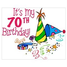 It's My 70th Birthday (Party Hats) Framed Print