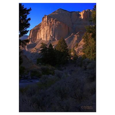 """TLG Gardiner River Canyon"" Poster"