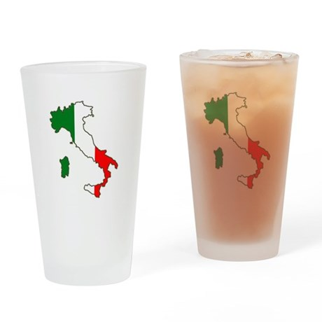 Italy Map Drinking Glass