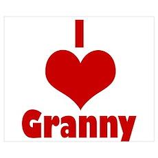 heart granny Poster