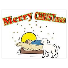 Merry CHRISTmas Manger Poster
