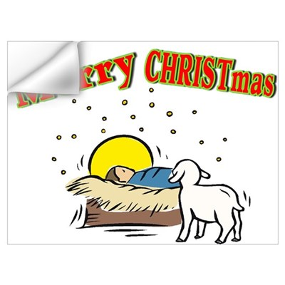 Merry CHRISTmas Manger Wall Decal