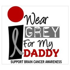 I Wear Grey For My Daddy 9 Canvas Art