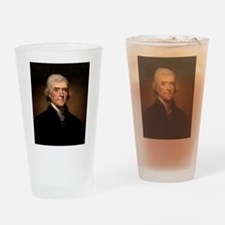 Thomas Jefferson Drinking Glass