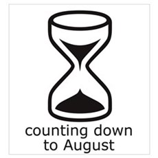counting down August due date Framed Print