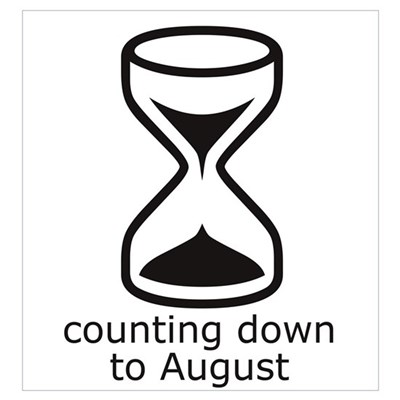 counting down August due date Canvas Art