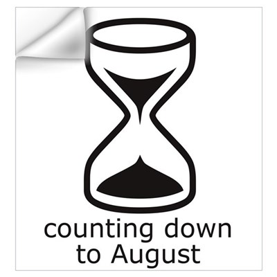 counting down August due date Wall Decal