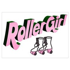 """Roller Girl"" Canvas Art"