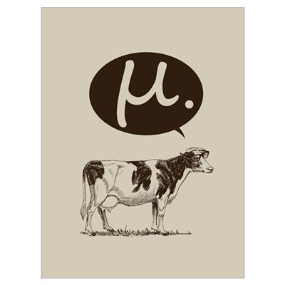 Mu Cow Canvas Art