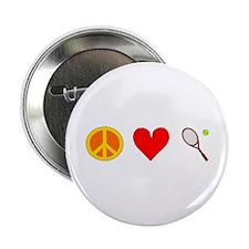 "Peace Love Tennis 2.25"" Button"