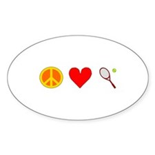 Peace Love Tennis Decal