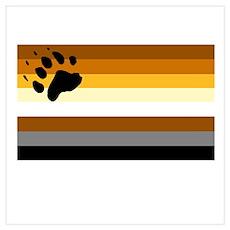 Bear pride flag Poster
