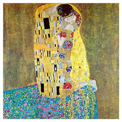 Gustav Klimt The Kiss Medium Poster