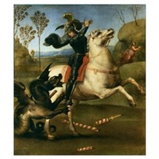 St George Fighting the Dragon Poster