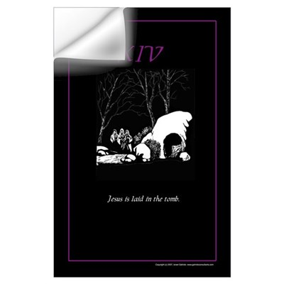 Station 14: Jesus is laid in the tomb Wall Decal