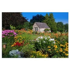 Country Cottage Summer Garden Framed Print