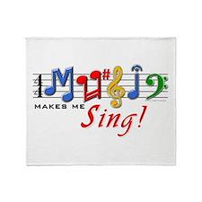 Music Makes Me Sing! Throw Blanket