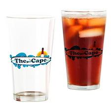 Cape Cod MA - Surf Design Drinking Glass