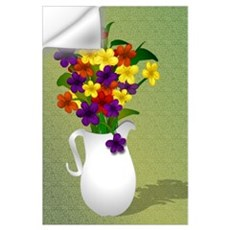 Colorful Floral Still Life Wall Decal