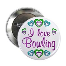 """I Love Bowling 2.25"""" Button (10 pack)"""