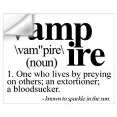 Definition of a Vampire Wall Decal
