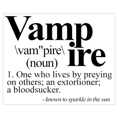 Definition of a Vampire Framed Print