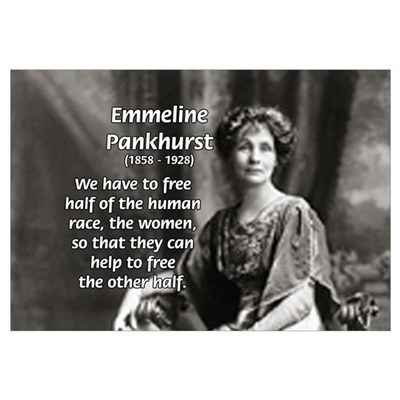Suffragist Emmeline Pankhurst Canvas Art