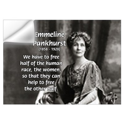 Suffragist Emmeline Pankhurst Wall Decal