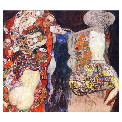 Gustav Klimt Adorn the Bride Medium Poster
