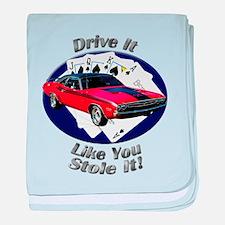 Dodge Challenger R/T baby blanket