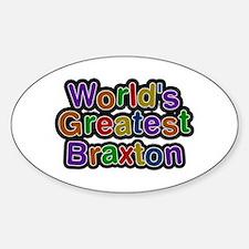 World's Greatest Braxton Oval Decal
