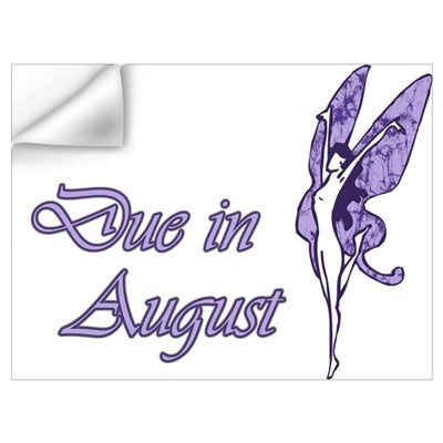 Due August Purple W Fairy Wall Decal