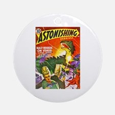 Dragon Science Fiction Cover Art Ornament (Round)
