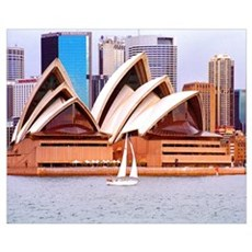 Opera House From the Water Framed Print