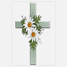 Green Cross w/Daisies 2