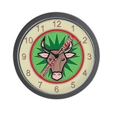 Proud to be Meat Free Wall Clock